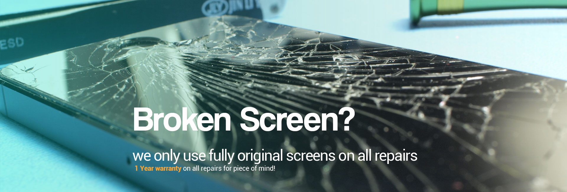 Broken screen? we onlu use fully origina screens on all repairs